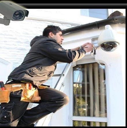 Instalação de sistema de segurança